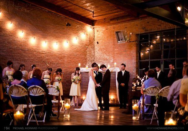The Loft, with its cedar and brick, is beautiful setting for your ceremony or reception. Photo...