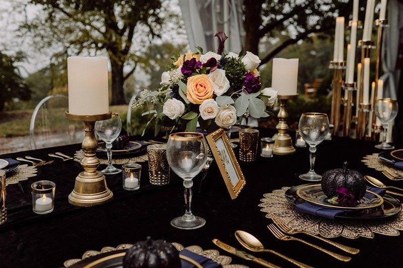 All Black Wedding Decor, GVE