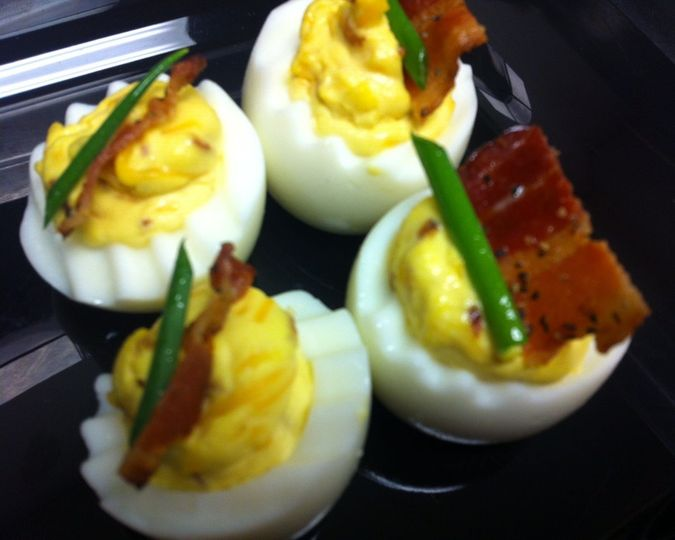 Smoked Bacon Deviled  Eggs