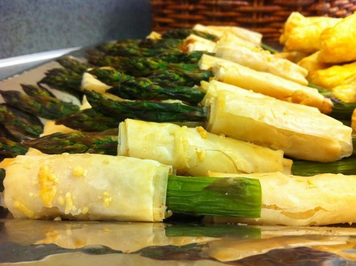 Phylo Wrapped Asparagus