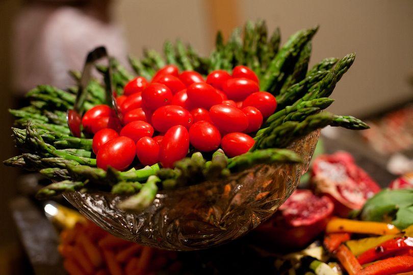 Cherry Tomatoe and Aspragus