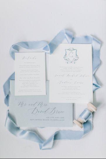 Dusty blue monogram