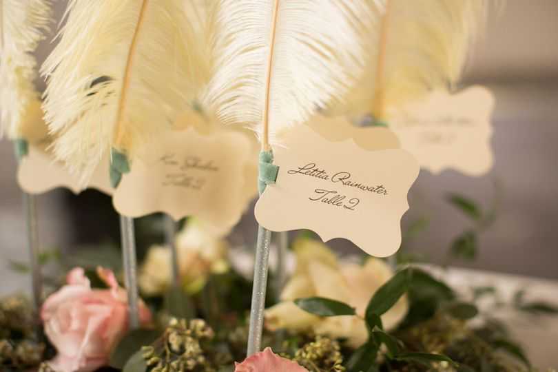 place card close up