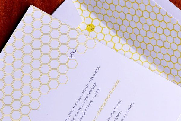 Tmx 1304019029564 Honeycombinvitecropcloseupphoto Kenmore wedding invitation
