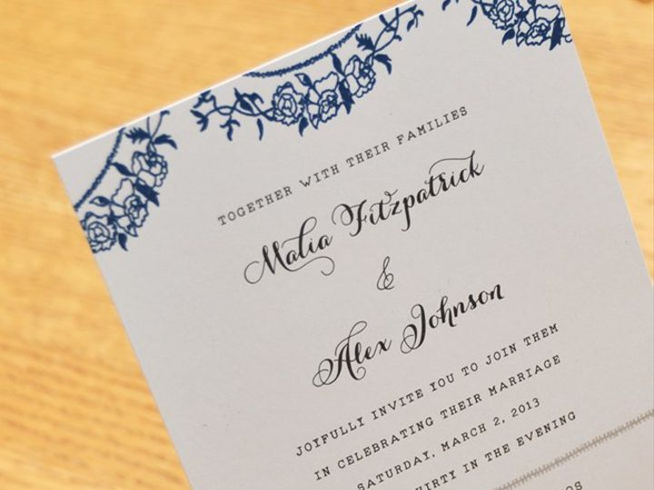 Tmx 1360365371431 Garlandonstand Kenmore wedding invitation