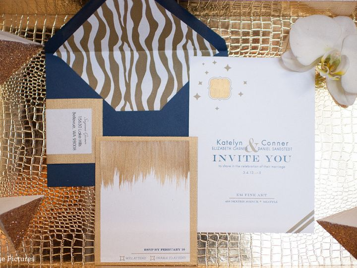 Tmx 1416872600376 Blue Gold Suiteweb Kenmore wedding invitation