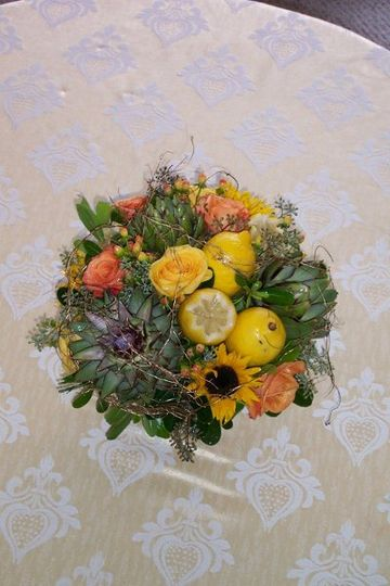 mixed fruit and flowers