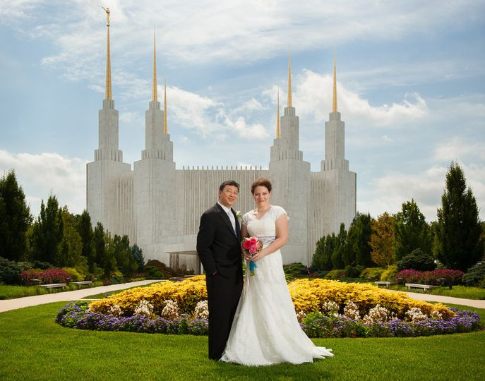 Ceremony at the Washington LDS Temple.