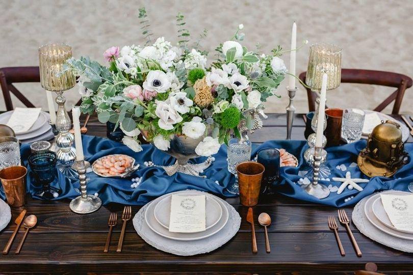 Table setup sample