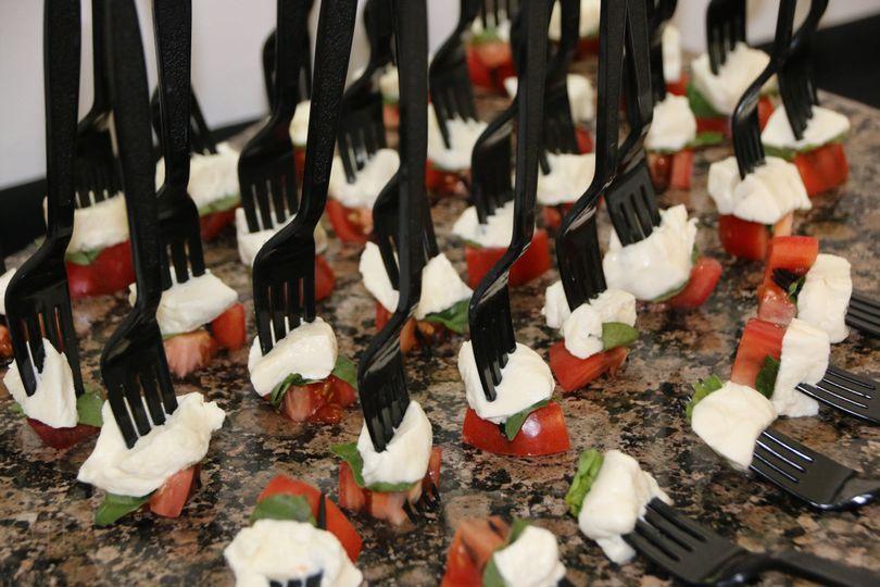 caprese forks
