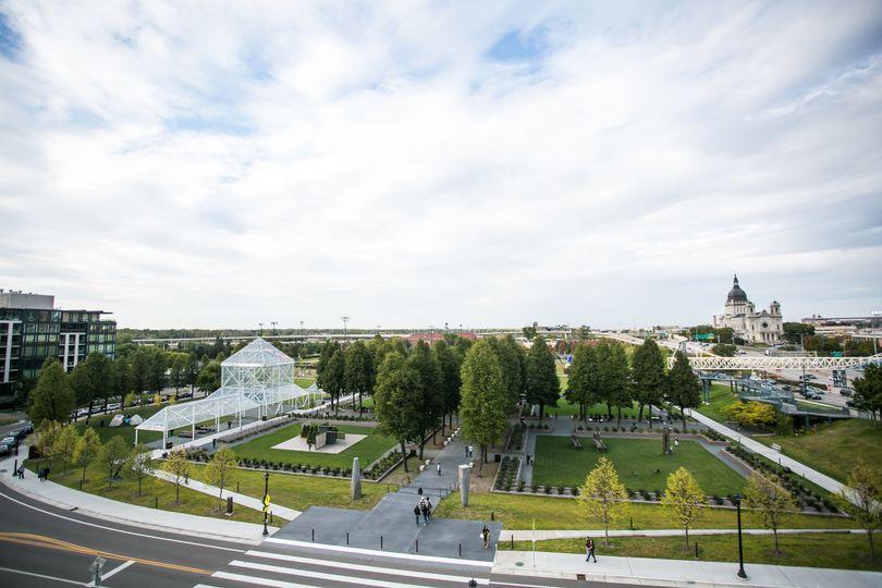 Terrace view of Minneapolis Sculpture Garden