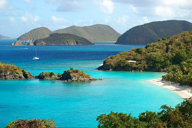Gorgeous bay in the Virgin Islands