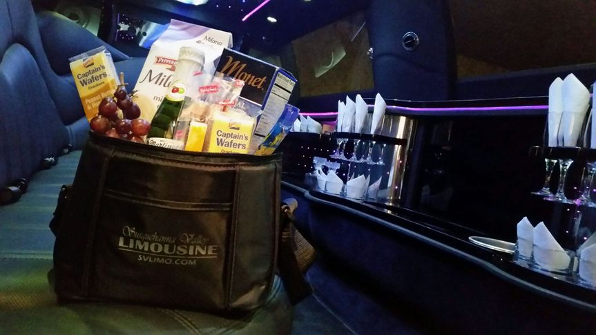 Complimentary snack cooler