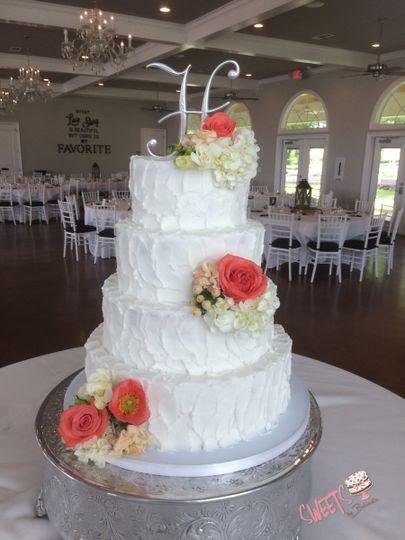 Textured white cake