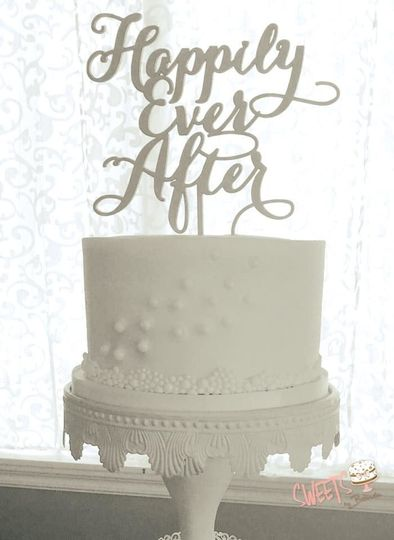 Happily ever after text topper
