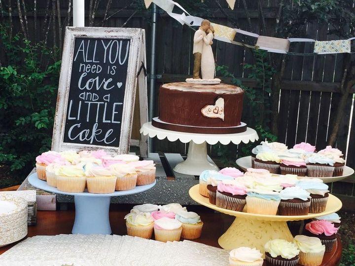 Tmx 1538695113 0e1f5e53ce0919d6 1538695112 5b2d6490d27cb9ae 1538695111294 1 Cupcake7 Arlington, Texas wedding cake