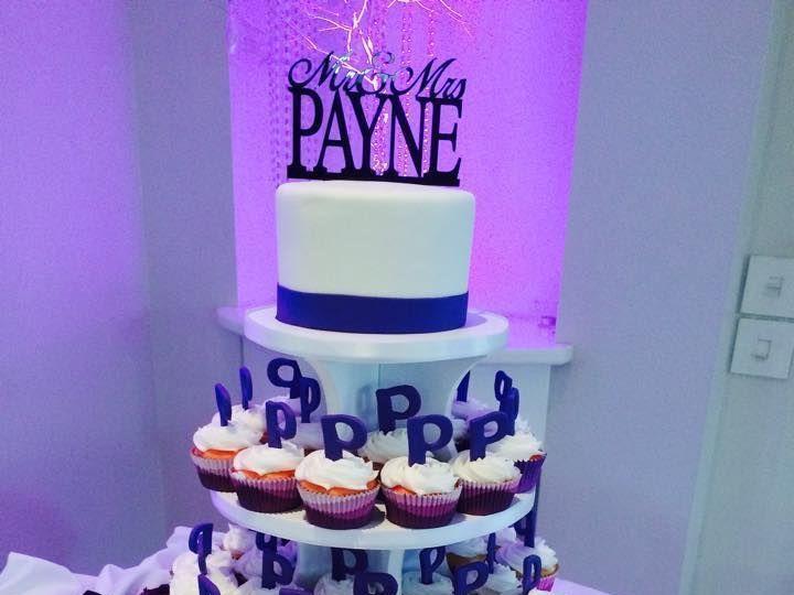 Tmx 1538695219 9ed8c6ddd6dd1de6 1538695218 769542307250f159 1538695217159 1 Cupcake8 Arlington, Texas wedding cake