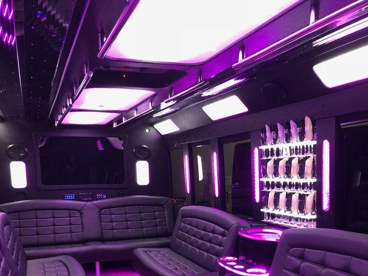 Tmx Blackline Limousine 24 Passenger Bus Color Interior 51 674756 Oak Creek wedding transportation