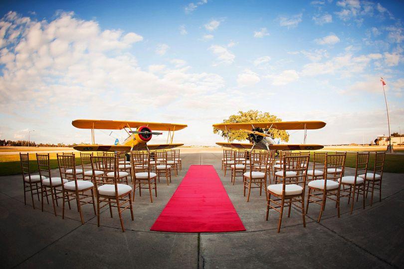 Red Carpet Ceremony on Tarmac