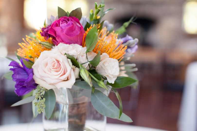 Floral centerpiece Unbridled Dreams Photography