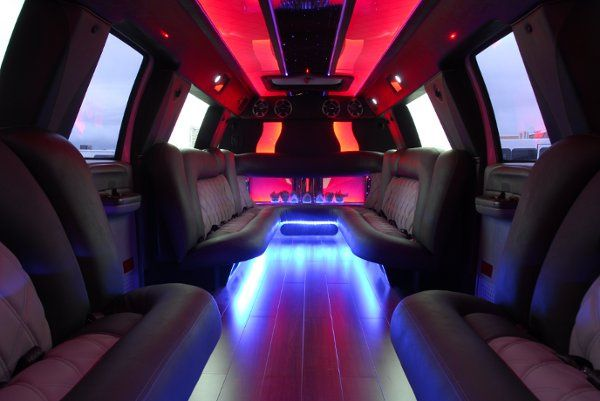 Our bio-diesel fueled Mega Stretch SUV limo has room for up to 24 passengers. This is an incredibly...