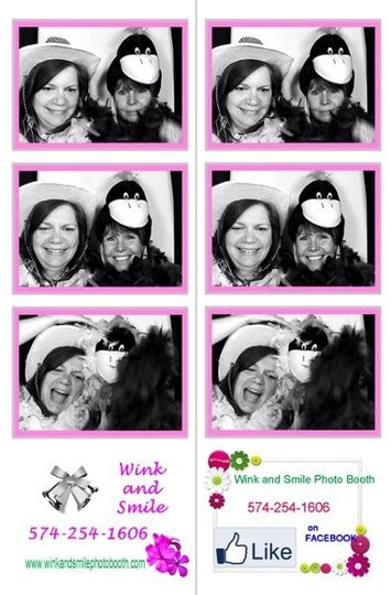 Unlimited Photo booth pictures available in Color or Black & White