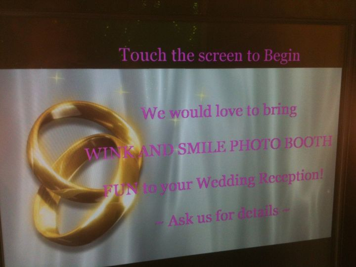 Photo Booth rental includes a personalized theme on the welcome screen.