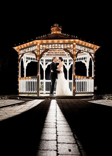 Couple under the gazebo