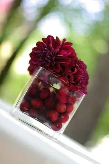 Berries and Dahlias