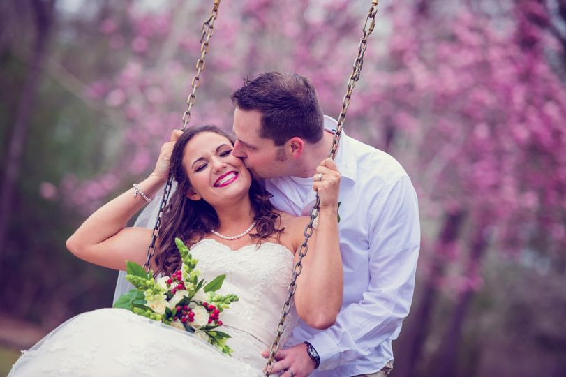 Happy Couple enjoying the swing under the Sycamore tree.