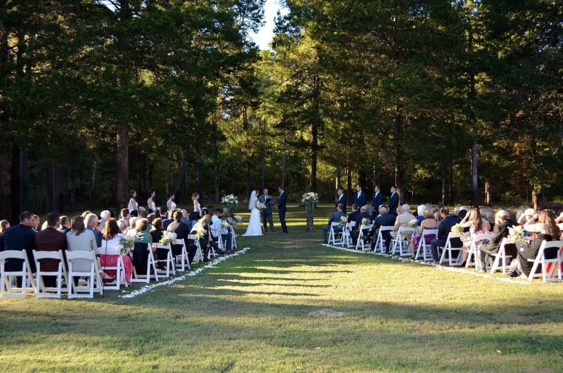 Outdoor ceremony for 125 guests on our 5.5 acre estate.