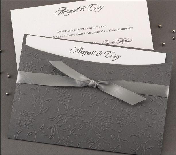 Monochrome grey invitations