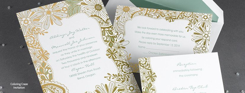 Gold detailed invitation