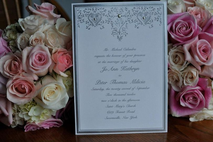 Invite and flowers