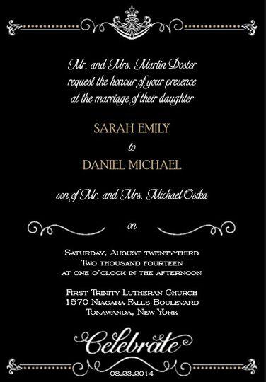Black base invitation