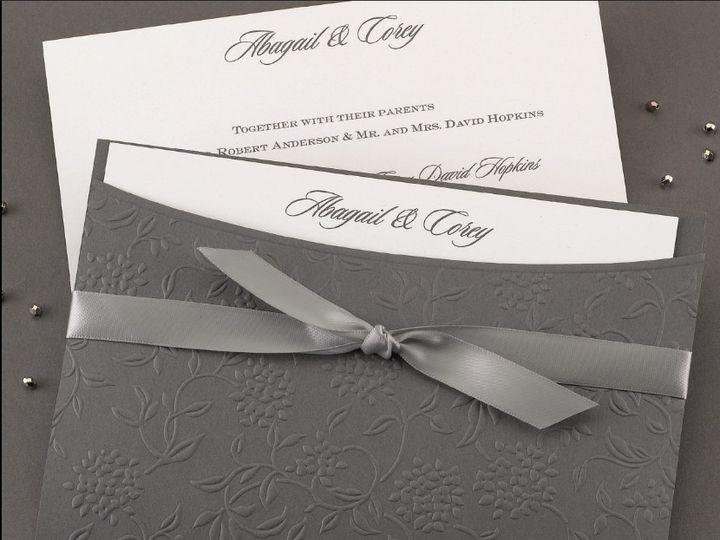 Tmx 1485329383367 Grey Embossed Pocket Buffalo, New York wedding invitation