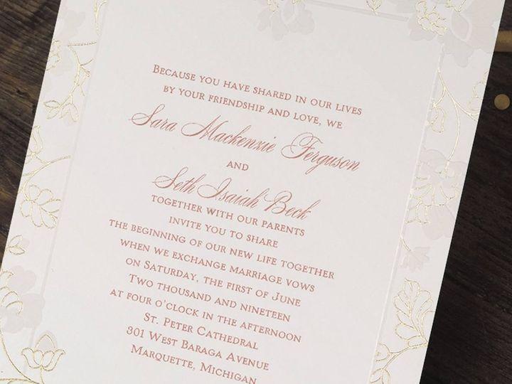Tmx 1485329669153 Fbcoversweddingandsocialstationery Buffalo, New York wedding invitation