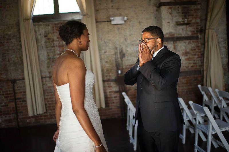 Surprised groom