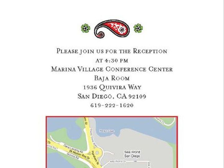 Tmx 1328119031624 WeddingDirectionsPage1 San Diego, CA wedding invitation