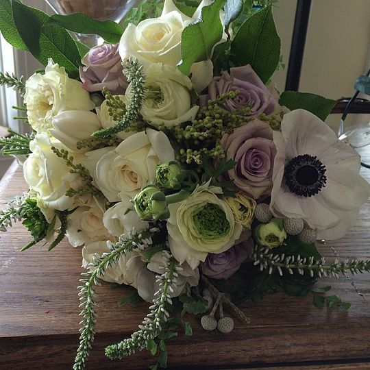 All-white bouquet
