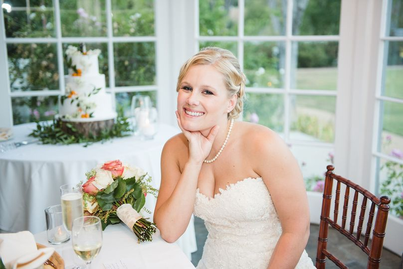 The bride at her reception