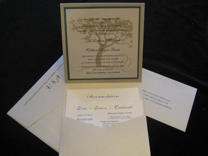 Tmx 1340655211263 Envelopments002 Arroyo Grande wedding invitation