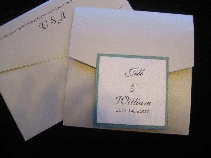 Tmx 1340655286241 Envelopments003 Arroyo Grande wedding invitation