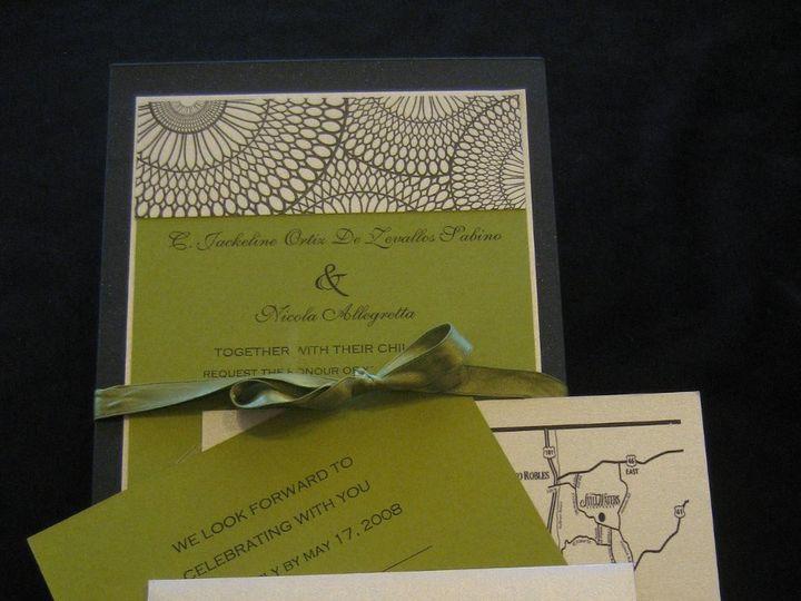 Tmx 1340655449215 Envelopments010 Arroyo Grande wedding invitation