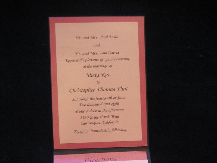 Tmx 1340655473733 Envelopments015 Arroyo Grande wedding invitation