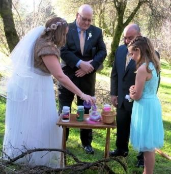 Sand Ceremony In A Meadow