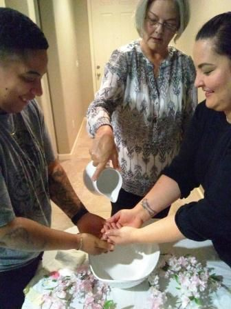Hand Washing/Hand Blessing Ceremony for a same-sex couple