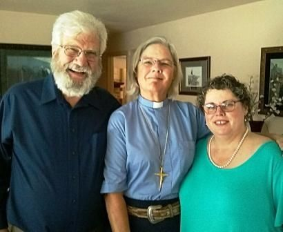 Reverend Terry Melau, Reverend Gail Climer and Janice Melau