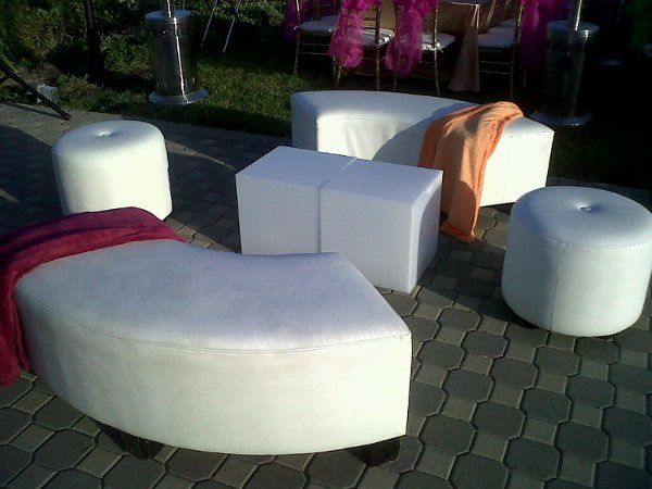 Lounge/beach party in valley with Rentals provided by Imperial Party Rentals (serpentine bench,...