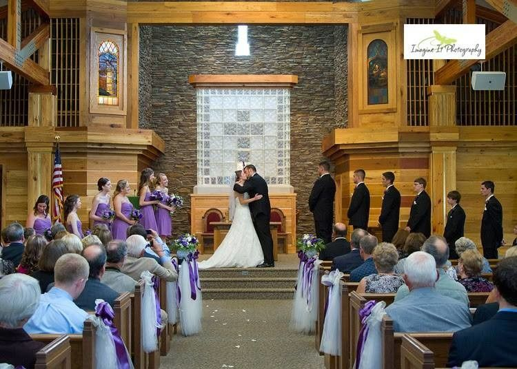 Our Sanctuary seats 225, has a beautiful center aisle and can accommodate large bridal parties.